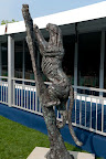 One of the many sculptures being displayed at Badminton this year