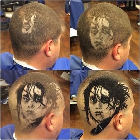 Desenho no cabelo 7