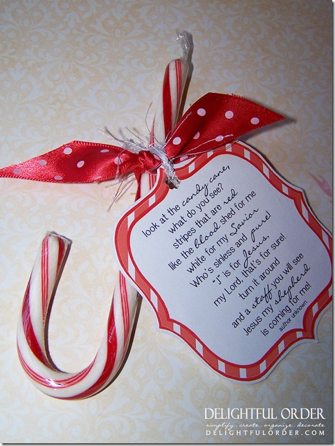 Delightful Order: Free Printable Candy Cane Poem