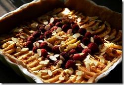 Tarte pommes framboises amande (1)