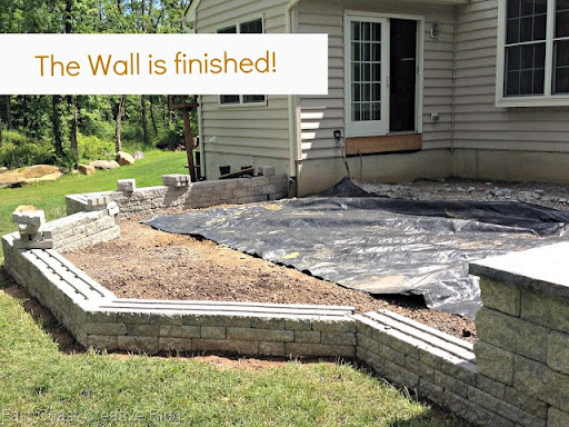 We Had Finished The Base Wall And We Could Finally Move Onto The Patio  Pavers And The Sitting Wall. Speaking Of The Sitting Wallu2026Take A Look At  That Beauty!