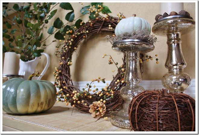fall display-cool tones