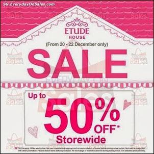 Etude House Festive Storewide Sale Singapore Jualan Gudang Jimat Deals EverydayOnSales Offers