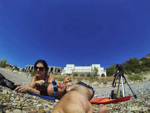 Στην παραλία Αγία Φωτεινή (Αγία Φωτιά), 100 μέτρα από΄τα Yolanda Studios που μέναμε.