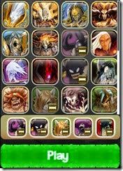 يمكنك إختيار خمسة أبطال من مجموعتك للعب بهم فى مواجهة خصمك فى لعبة الكروت المتحاربة