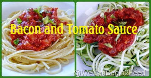 Bacon and Tomato Sauce