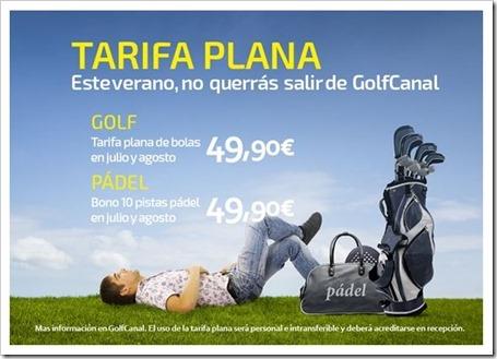 Este verano juega al golf o al pádel en pleno centro de Madrid con tu Tarifa Plana 2014.