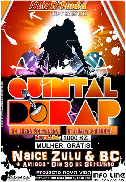 Quintal do Rap Vs Naice Zulu & BC [Dia 30 de Setembro]