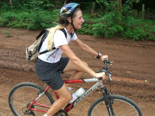Playa Flamingo Cycling - Monkey Trail - Action shot of Carmen!