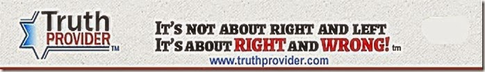 Truth Provider banner - not right-left, about right-wrong