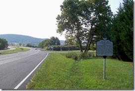 Jackson's Bivouac marker on Route 50 next to turn into Paris, VA