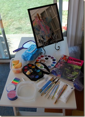 face paint station