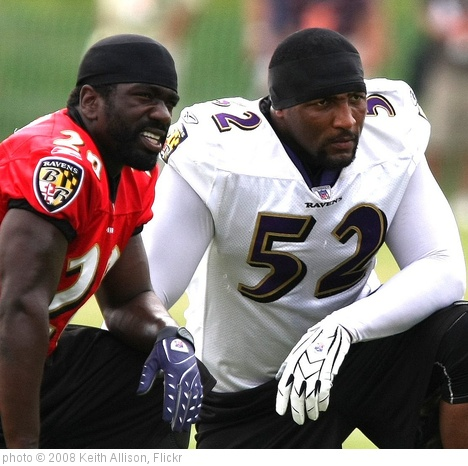 'Ed Reed, Ray Lewis' photo (c) 2008, Keith Allison - license: http://creativecommons.org/licenses/by-sa/2.0/