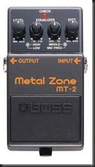 metal zone boss pedal distortion mt-2