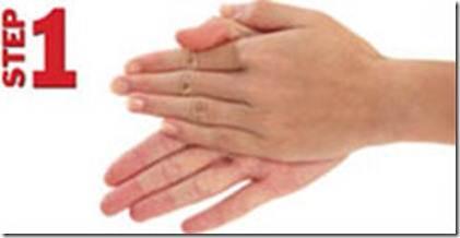 Langkah 1/7 langkah hygiene mencuci tangan