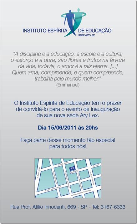 E-mail Convite Sede Nova IEE