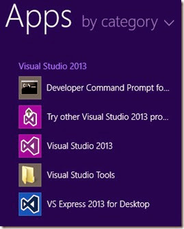 Visual Studio Tools shortcut