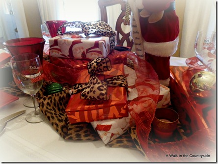a walk in the countryside: leopard Christmas table