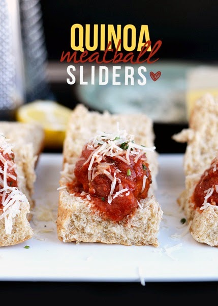 Quinoa meatball sliders  from fitfoodiefinds com