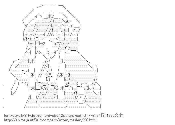 [AA]翠星石 (ローゼンメイデン)