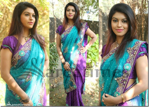 Prathistha_Pink_and_Blue_Half_Saree