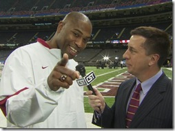Shaun Alexander at BCS national championship game 1-9-12