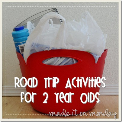 Road Trip Activities for 2 Year Olds