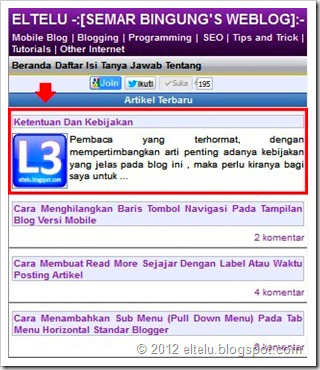 ELTELU - Contoh Headline Artikel Pada Blog Versi Seluler