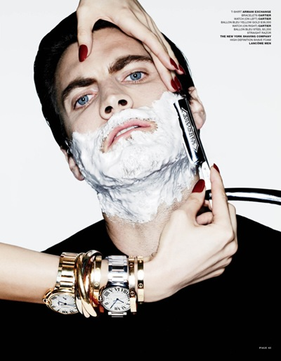 Wes Bentley by Ben Hasset for VMan #25, S/S 2012.  Styled by Tom Van Dorpe.