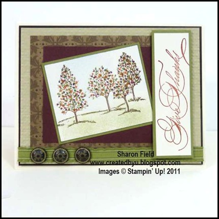 CS49H, Sharon_Field, lovely_as_a_tree, hand_penned_holidays, thanksgiving, card, antique brads, creative-sketches, challenge, markers, blog candy, splitcoast stampers, stamps