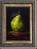 Green Pear Framed leaf