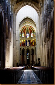 Madrid cathedral nave