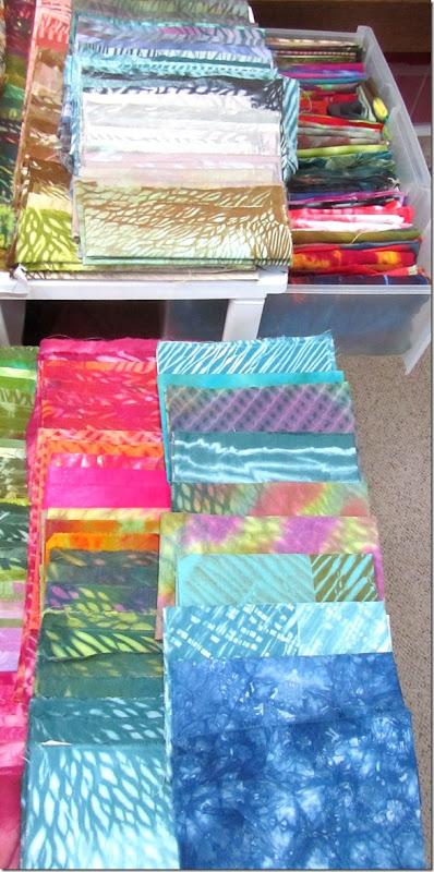 dyed fabrics rearrangedall