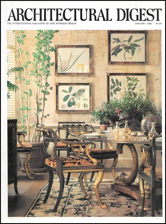 I Found This Old Architectural Digest With The Photoshoot From Lee Radziwill S Park Avenue Terrace Apartment Cover Story Is January 1982