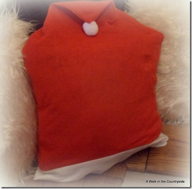a walk in the countryside: Christmas pillow using $ tree chair cover