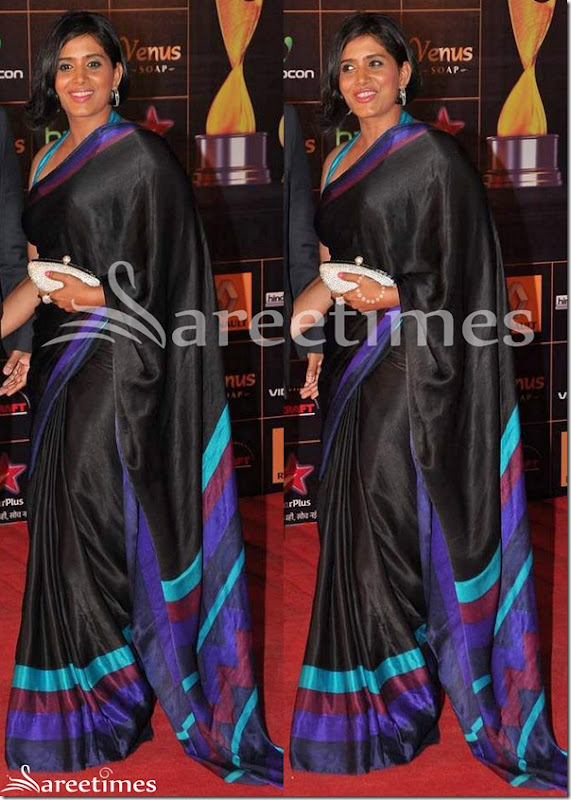 Konkana_Sen_Black_Saree