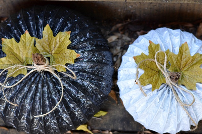 DIY Dryer Vent Pumpkins
