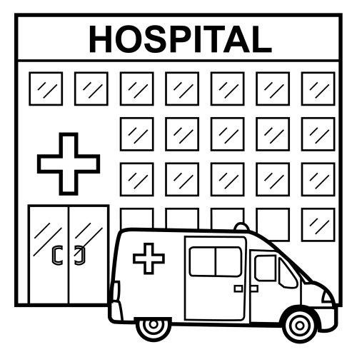 DIBUJOS DE HOSPITALES PARA COLOREAR | Dibujos para colorear