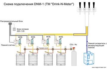 Схема подкл. DNM-1 на 4 сорта