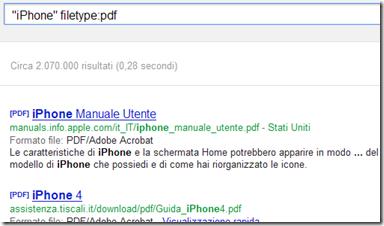 Trovare solo documenti PDF con Google