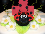 First birthday lady bug cake