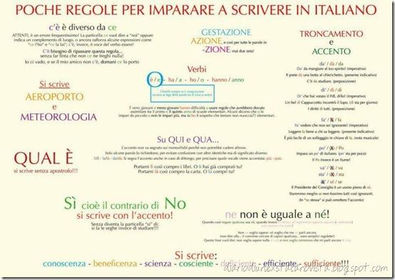grammatica italiana base