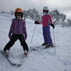 Girls enjoying powder at Mt Hotham