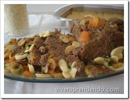 Carne Assada na Pressão com Crocante de Batata