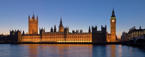قصر وستمنستر في لندن