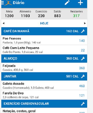 contador de calorias