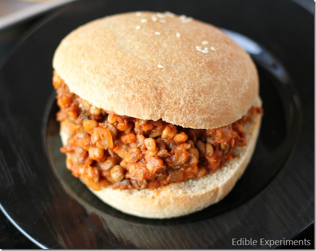 Lentil Barley Vegetarian Sloppy Joes with Homemade Whole Wheat Buns