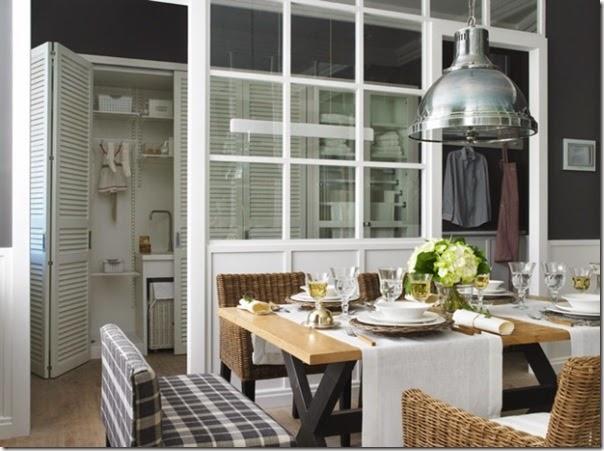 cucina - pranzo - lavanderia - vetrata - greige - country chic (7)