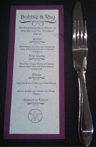 diy menu