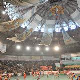 モンゴル相撲の大会場。夏は草原で行われる。